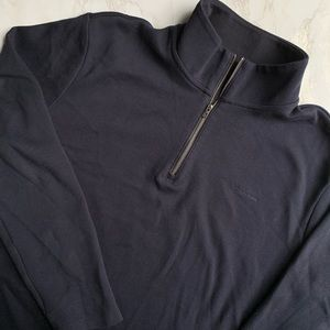 Calvin Klein Navy Blue 1/4 Zip Sweater